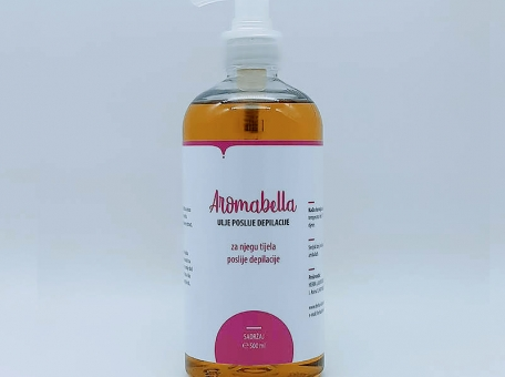Aromabella ulje poslije depilacije 500 mL - KOZMETIČKI SALONIDepilacijaBEAUTY SALON AND SPADepilatory (hair removal) products cijena, prodaja, Hrvatska